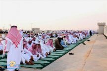 دخول الإمام لإقامة صلاة العيد الأضحى بمدينة حائل في تمام الساعة 5.56  صباحاً