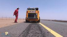 تقنية الاهتزازات التحذيرية التي تنفذها وزارة النقل على الطرق لتنبيه السائقين من انحراف المركبة والحد من الحوادث المرورية