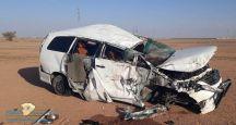 وفاة طالبه وثلاث إصابات بحادث اصطدام على طريق حائل _ الخطة