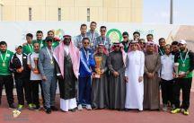 توج سعادة رئيس الاتحاد الرياضي للجامعات السعودي أ. د. خالد بن صالح المزيني #جامعة_الملك_سعود ببطولة التنس الأرضي
