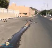 مياه المجاري…تسيل في شارع النعام بحائل والاهالي يطالبون بالحل العاجل